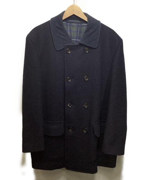 COMME des GARCONS HOMME(コムデギャルソン・オム)COMME des GARCONS HOMME (コムデギャルソン・オム) コーデュロイ襟ウールコート ネイビー サイズ:M ウール100%の古着・服飾アイテム