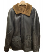 Schott(ショット)の古着「羊革 リアルムートンコート」|ブラック