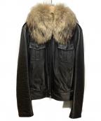 LITHIUM HOMME(リチウムオム・ファム)の古着「ラムレザーフライトジャケット」|ブラック