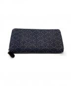 印傳屋(インデンヤ)の古着「ラウンドファスナー財布」|ネイビー