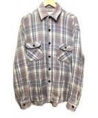 ()の古着「ネルシャツ」|グレー×ホワイト