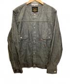 FULLCOUNT(フルカウント)の古着「ノーカラーシャンブレージャケット」 グレー