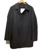 MACKINTOSH PHILOSOPHY(マッキントッシュフィロソフィー)の古着「【DOVER】 Wフェイスメルトン ステンカラーコート」|ネイビー