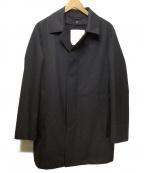 MACKINTOSH PHILOSOPHY()の古着「【DOVER】 Wフェイスメルトン ステンカラーコート」|ネイビー