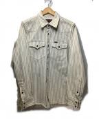 IRON HEART(アイアンハート)の古着「12oz ウォバッシュ ウエスタンシャツ」 ホワイト