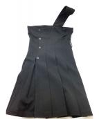 tricot COMME des GARCONS(トリコ コムデギャルソン)の古着「ウール レイヤードワンショルダーOP」|ブラック