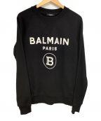 BALMAIN(バルマン)の古着「前Vガゼットロゴスウェット」 ブラック