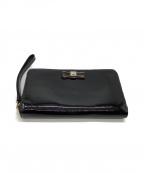 FURLA()の古着「ラウンドファスナー財布」|ブラック