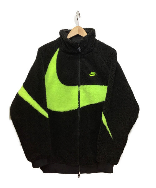 NIKE(ナイキ)NIKE (ナイキ) リバーシブルボアジャケット ブラック×イエロー サイズ:Lの古着・服飾アイテム