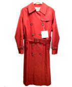 ()の古着「トレンチコート」|レッド