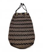 印傳屋(インデンヤ)の古着「爪唐草 黒地白漆 合切袋」|ブラック