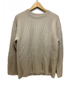 BATONER(バトナー)の古着「あぜ編みリブクルーネックセーター」|アイボリー