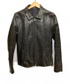 KURO(クロ)の古着「Kip Leather Jaket」|ブラック