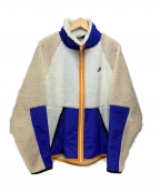 NIKE()の古着「M HE ウィンターSHERPAジャケット」|ホワイト×ブルー