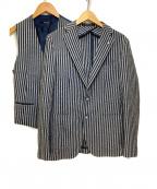 TAGLIATORE(タリアトーレ)の古着「テーラードジャケット」|ブルー×ホワイト
