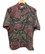 reyn spooner(レイン スプナー)の古着「アロハシャツ」 グレー×レッド