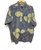 reyn spooner(レイン スプナー)の古着「アロハシャツ」 ネイビー×イエロー