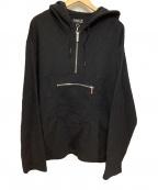 agnes b homme(アニエスベーオム)の古着「ハーフジップパーカー」 ブラック