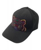 ()の古着「タイガー刺繍ベースボールキャップ」|ブラック