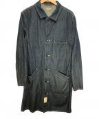 KAPITAL(キャピタル)の古着「ショップコート」|インディゴ