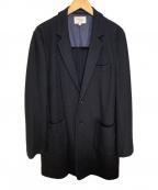 Adam et Rope(アダムエロペ)の古着「チェスターコート」 ブラック