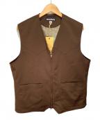 MONITALY(モニタリー)の古着「ウエスタンヨークベスト」|ブラウン
