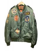 ()の古着「フライトジャケット」 グリーン