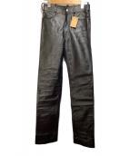 ()の古着「レザーパンツ」 ブラック