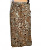 Ameri(アメリ)の古着「スカート」|ブラウン×グリーン
