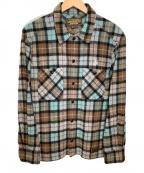 NEIGHBORHOOD(ネイバーフッド)の古着「ウールシャツ」|グリーン×ブラウン