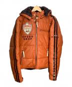 CLAY SMITH(クレイスミス)の古着「ライダースジャケット」|ブラウン