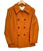 DELICIOUS()の古着「ダブルプレストコート」|オレンジ
