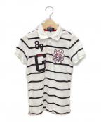 PEARLY GATES(パーリーゲイツ)の古着「ゴルフウェア(トップス) ポロシャツ」|ホワイト