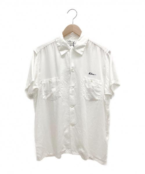 MADISON BLUE(マディソンブルー)MADISON BLUE (マディソンブルー) ボーリングシャツ ホワイト サイズ:02(M)の古着・服飾アイテム