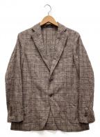 MACKINTOSH LONDON(マッキントッシュ ロンドン)の古着「ディプライメランジブークレチェックジャケット」 ブラウン