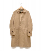 kolor/BEACON(カラービーコン)の古着「スエードツイルステンカラーコート」 ベージュ
