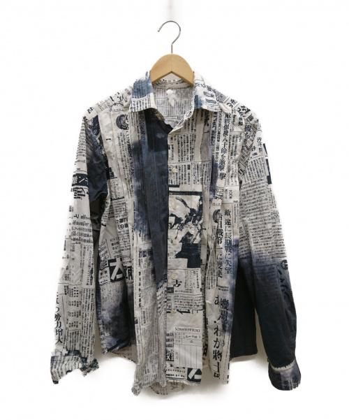 SOSHIOTSUKI(ソウシオオツキ)SOSHIOTSUKI (ソウシオオツキ) アコーディオンシャツ ホワイト サイズ:46 2019年S/Sの古着・服飾アイテム