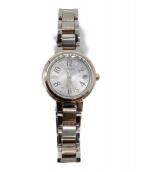 CITIZEN(シチズン)の古着「xC エコ・ドライブ電波 腕時計 ミニソル」|ライトピンク