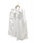 JUNYA WATANABE CDG(ジュンヤワタナベコムデギャルソン)の古着「変形シャツワンピース」 ホワイト