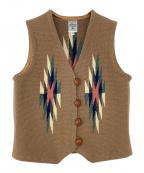 ORTEGAS(オルテガ)の古着「ベスト」 ブラウン