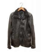 junhashimoto(ジュンハシモト)の古着「シングルライダースジャケット」 ブラック