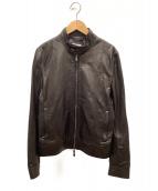 EMMETI(エンメティ)の古着「ラムレザージャケット」 ブラック