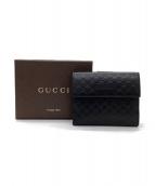 GUCCI(グッチ)の古着「マイクログッチシマ 2つ折り財布」|ブラック