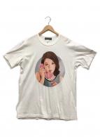 yohji yamamoto+noir(ヨウジヤマモトプリュスノアール)の古着「サイトウユウスケ プリントTシャツ」 ホワイト