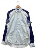 COMME des GARCONS SHIRT()の古着「切替シャツ」|ブルー