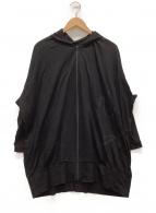 yohji yamamoto+Noir(ヨウジヤマモトプリュスノアール)の古着「顔料プリントジップパーカー」|ブラック