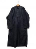SOFIE DHOORE(ソフィードール)の古着「ロングシャツワンピース」|ネイビー