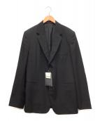Yohji Yamamoto COSTUME D'HOMME(ヨウジヤマモトコスチュームドオム)の古着「ウールギャバジン 2Bシングルジャケット」|ブラック