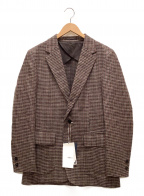 KOLOR()の古着「GUN CLUB CHECK 1B JACKET」|ブラウン