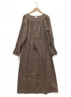 MANDO(マンドー)の古着「ペイズリー柄ワンピース」|ブラウン